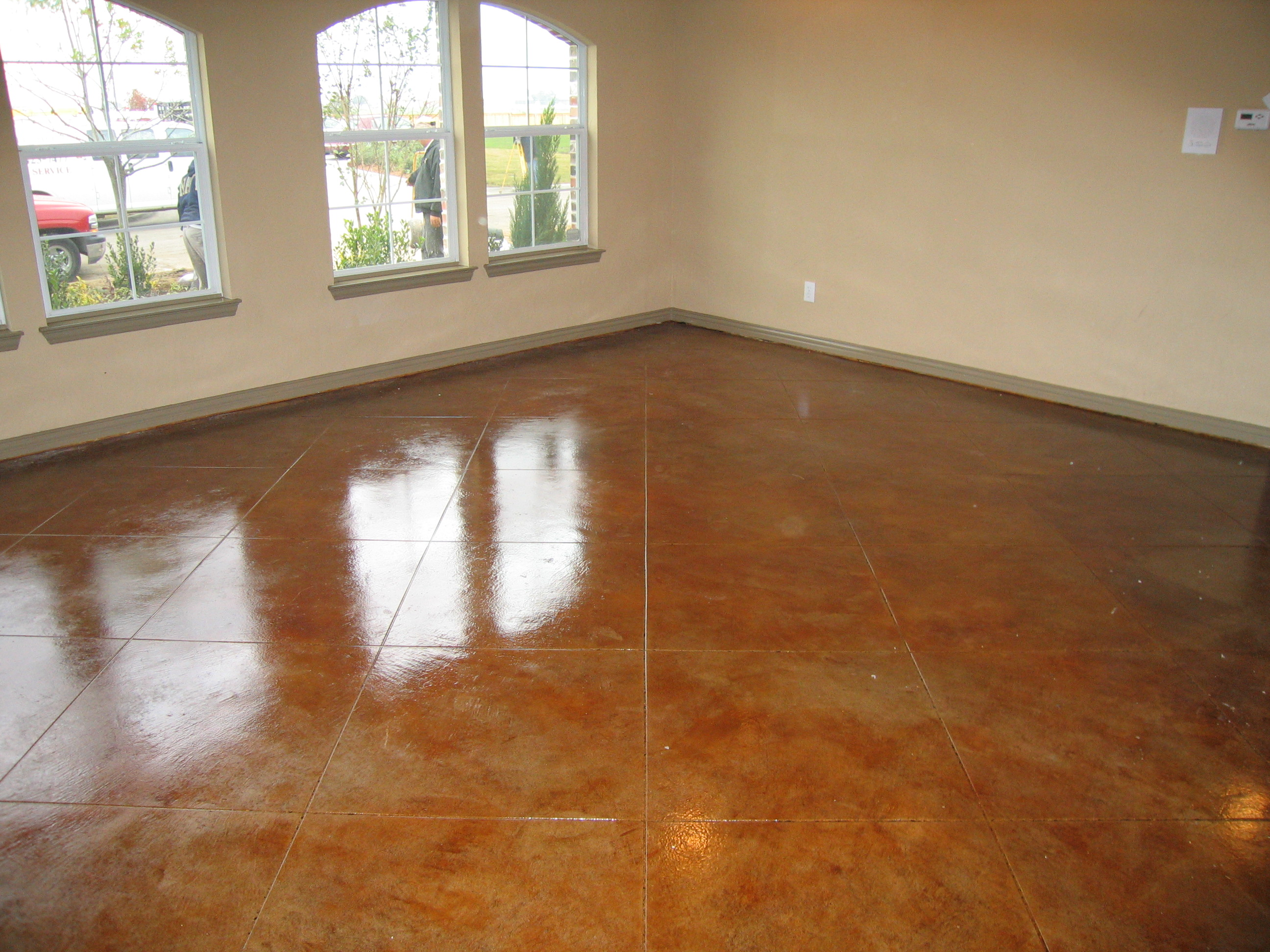 Scored Concrete Flooring : Installers of stamped concrete acid stain and decorative