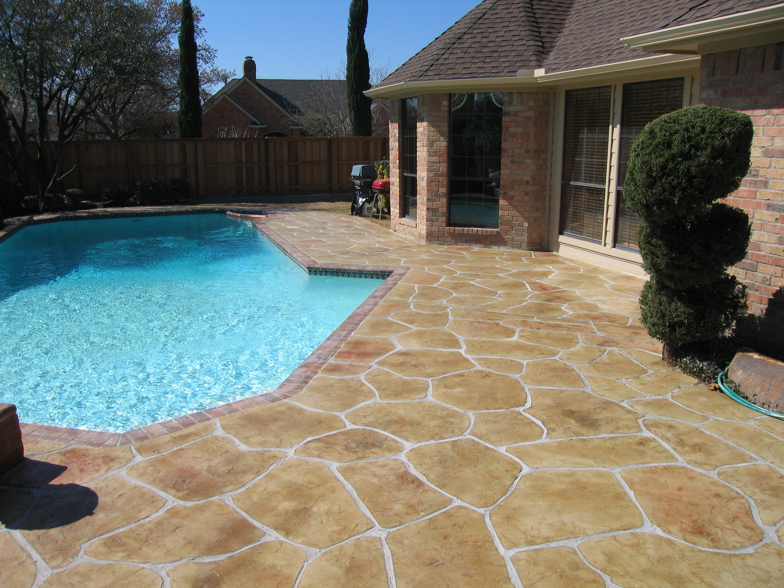 Installers of stamped concrete acid stain and decorative - Cemento para piscinas ...