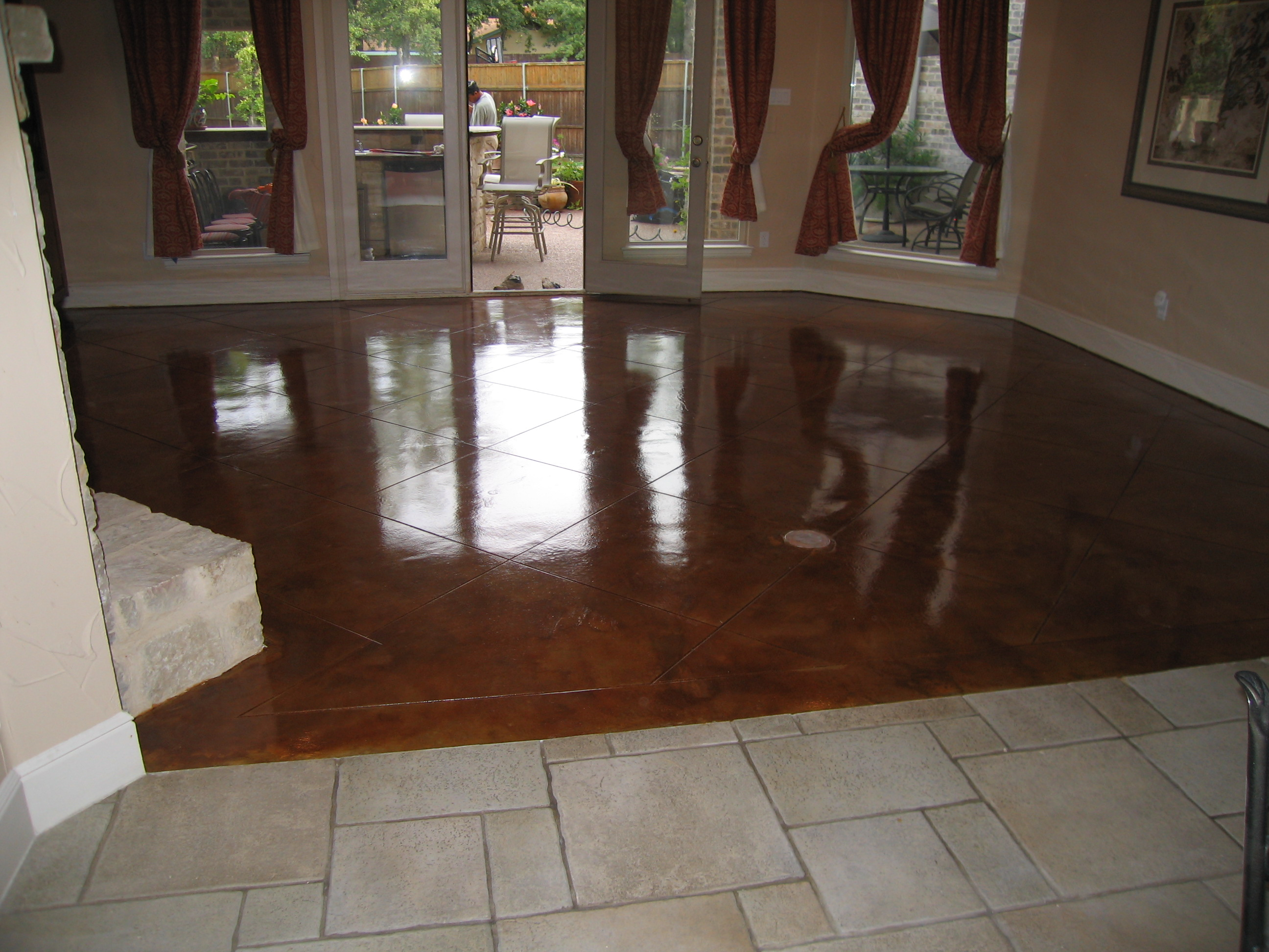 Black acid stain for Black stains on concrete