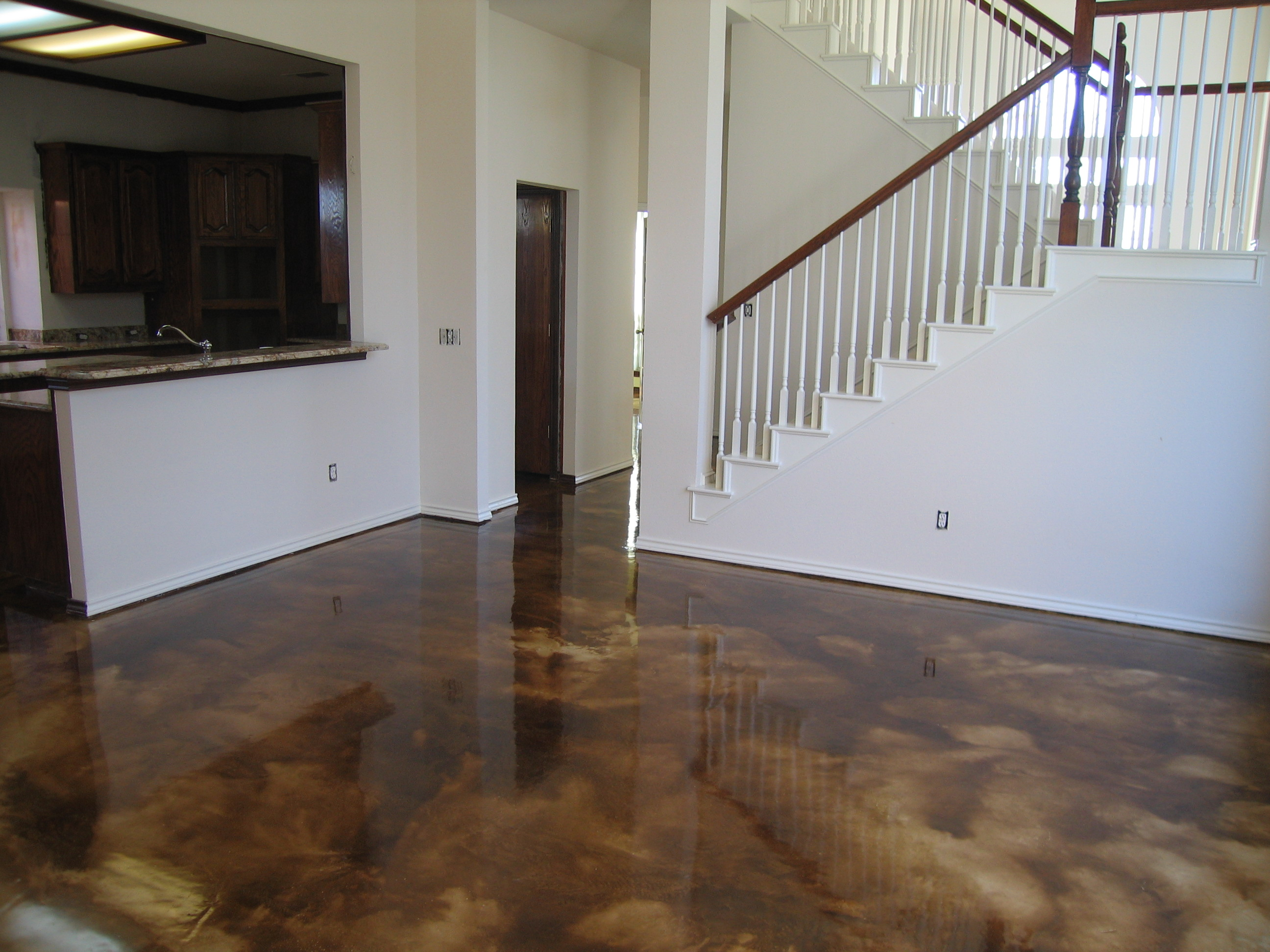 Installers of stamped concrete acid stain and decorative for Black stains on concrete