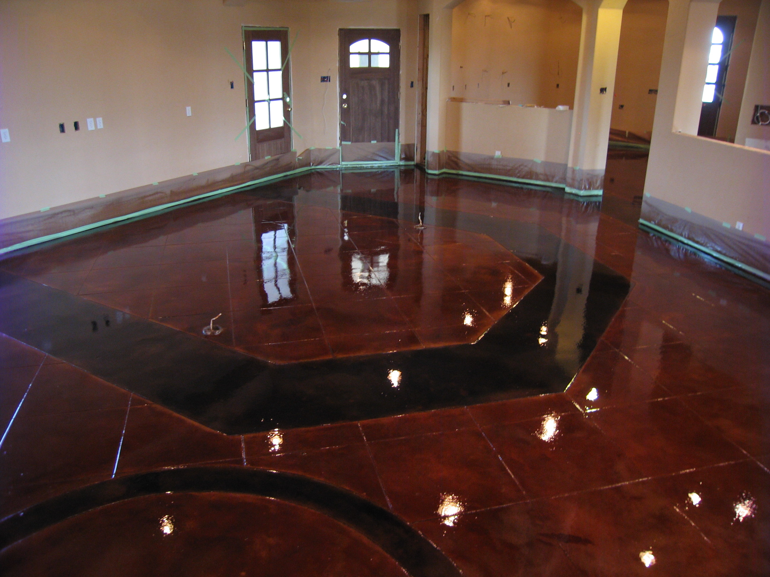 What Is The Difference Between Stamped Concrete And Stained Concrete stamped concrete, acid stain, polished concrete dallas/fort