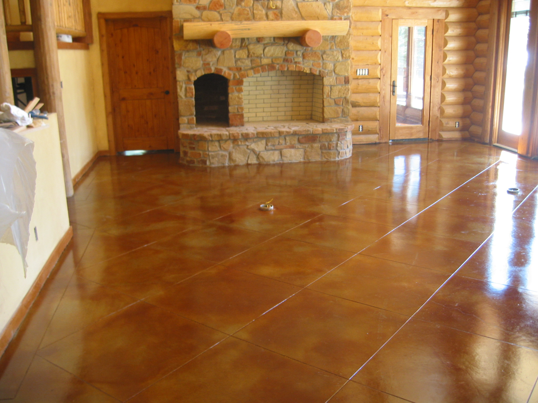 Installers of stamped concrete acid stain and decorative for How to clean acid stained concrete